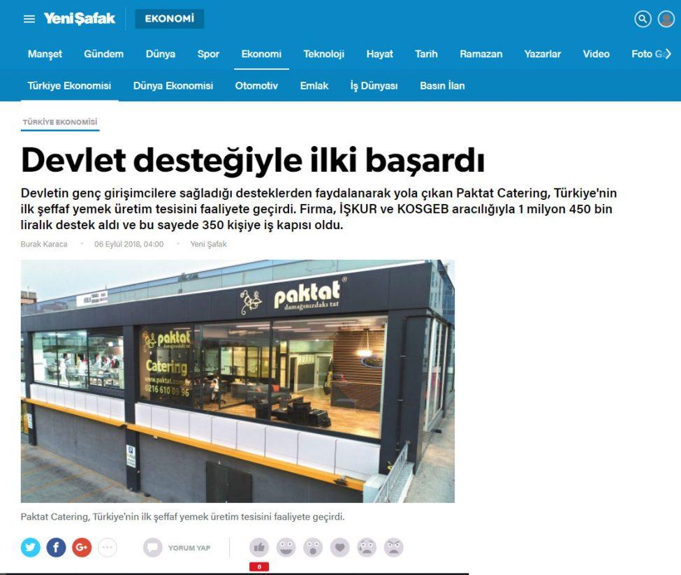 Türkiye'nin İlk Şeffaf Yemek Üretim Tesisi